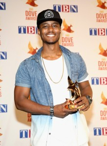 "KB with his Dove Award for ""100"""