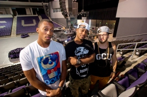KB (middle) with Lecrae and Andy Mineo