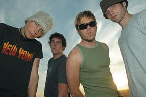 Ben Cissell (second from left) with Audio Adrenaline