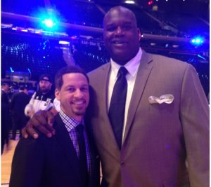 Chris Broussard (left) with Shaq